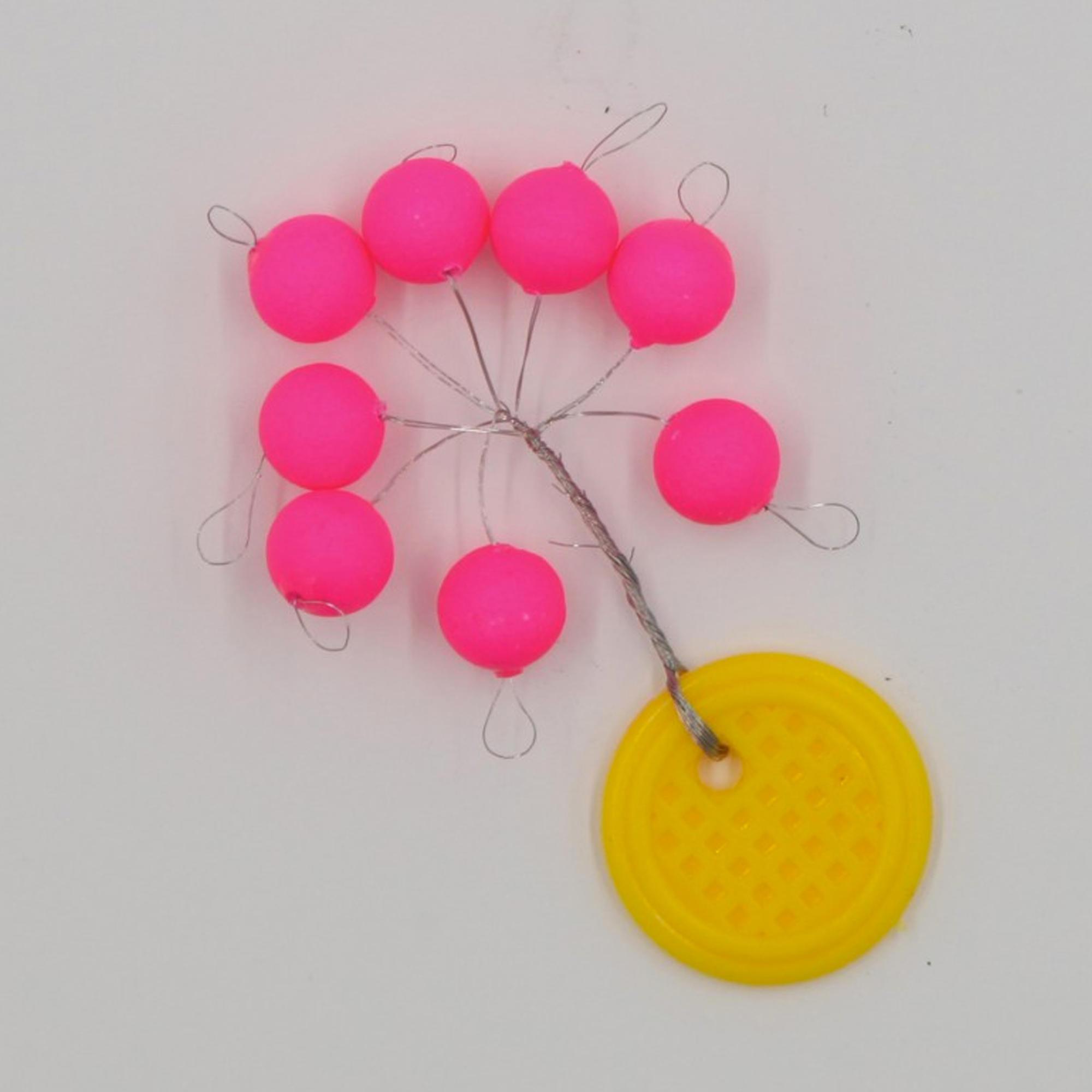 Flashmer Set drijvende kralen voor zeehengelen rond roze