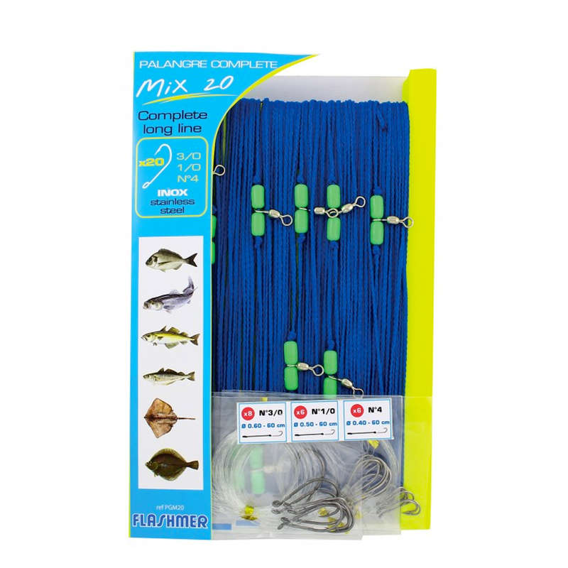 SALTWATER LONG LINE Fishing - MULTI-HOOK LONGLINE MIX 20 FLASHMER - Fishing