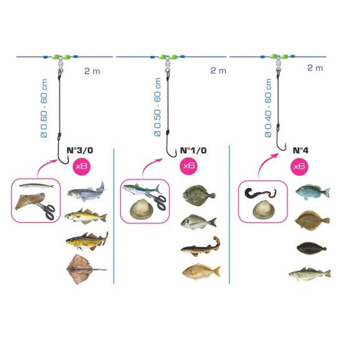 Línea de palangre mix 20 pesca en el mar