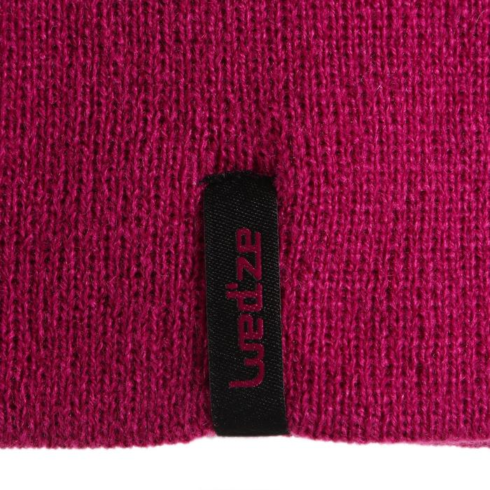 雙面滑雪帽 - 粉色紅色。