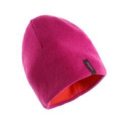 成人雙面滑雪帽紅色/紫色
