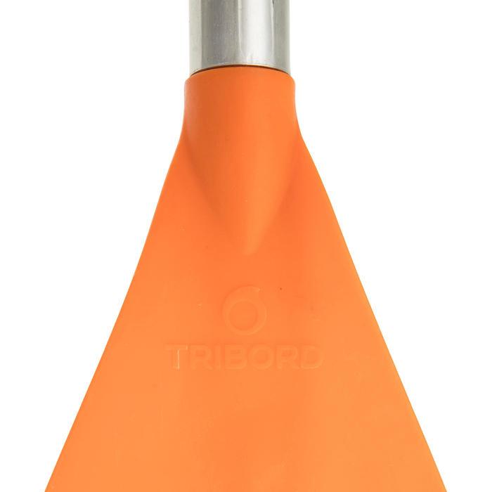 Symmetrische kajakpeddel 1 deel vast 100 oranje