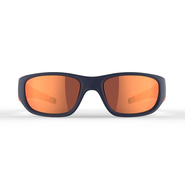 Wandelzonnebril voor kinderen 9-11 jaar MH T550 blauw categorie 4 polariserend