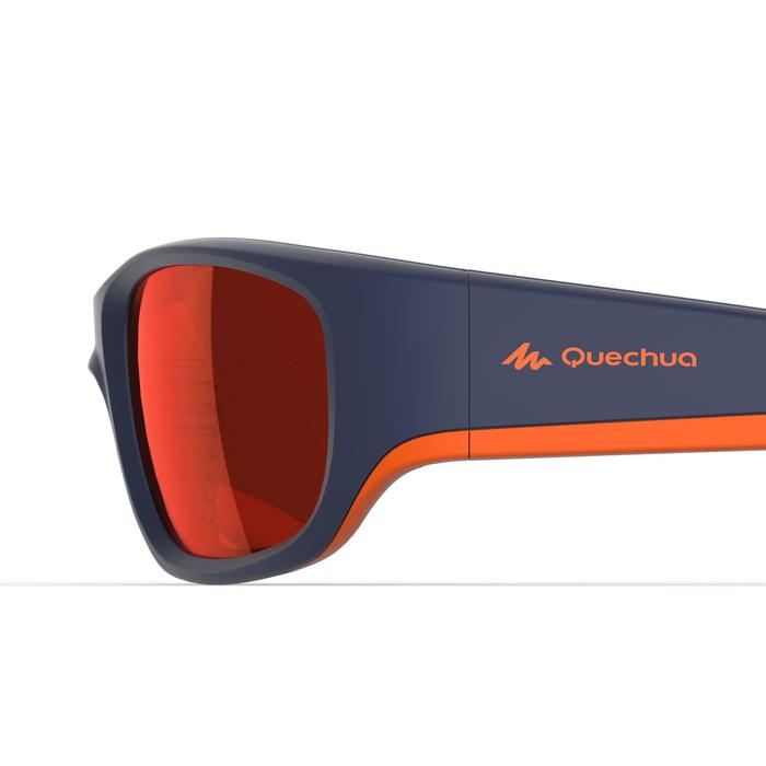 Sonnenbrille polarisierend Wandern MH550 Kategorie 4 Kinder 9-11 Jahre blau