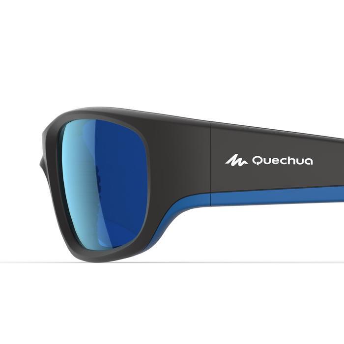 Lunettes de soleil randonnée enfant 9-11 ans MH T 900 noires/bleues catégorie 4