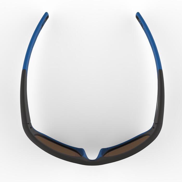 Gafas de sol de senderismo júnior 9-11 años MH T550 negro/azul categoría 4