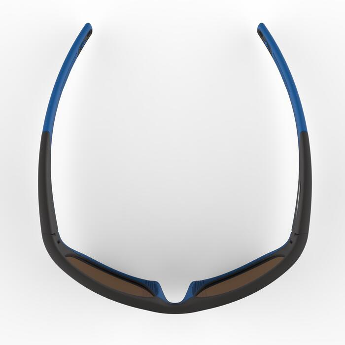 Gafas de sol de senderismo niños 9-11 años MH T 900 negro/azul categoría 4