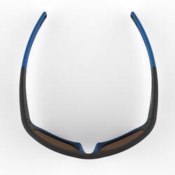 Wandelzonnebril voor kinderen 9-11 jaar MH T550 zwart/blauw categorie 4