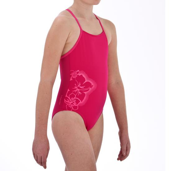 Meisjesbadpak Agirl Ninou roze met gekruiste rugbandjes - 12513