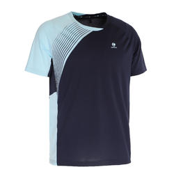 Badminton shirt 830 voor heren marineblauw