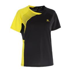 830 Women's Badminton T-Shirt - Black/Yellow