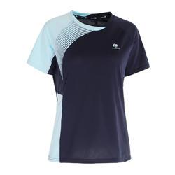 Badminton shirt 830 voor dames marineblauw