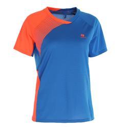 830 Women's Badminton T-Shirt - Blue/Orange