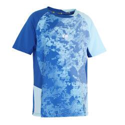 Camiseta de bádminton manga corta perfly 860 niños azul