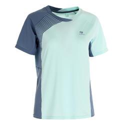 830 女士羽球T-Shirt - 藍色/橘色