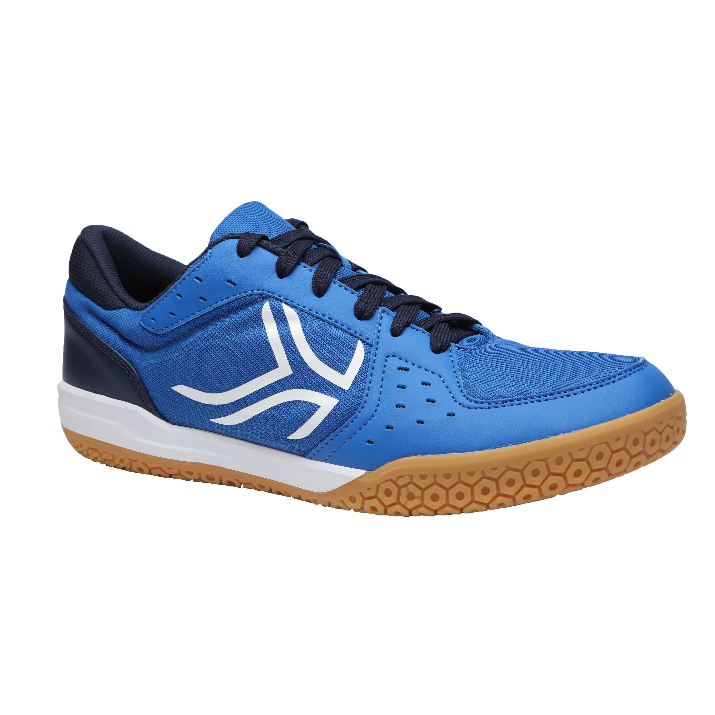 Chaussures de BADMINTON Artengo BS730 homme bleu et blanc