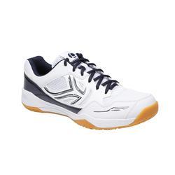 Badmintonschoenen voor heren Artengo BS760 wit blauw