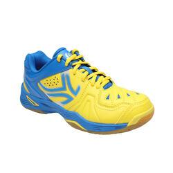 Hallenschuhe Badminton/Squash BS800 Jugendliche gelb/blau