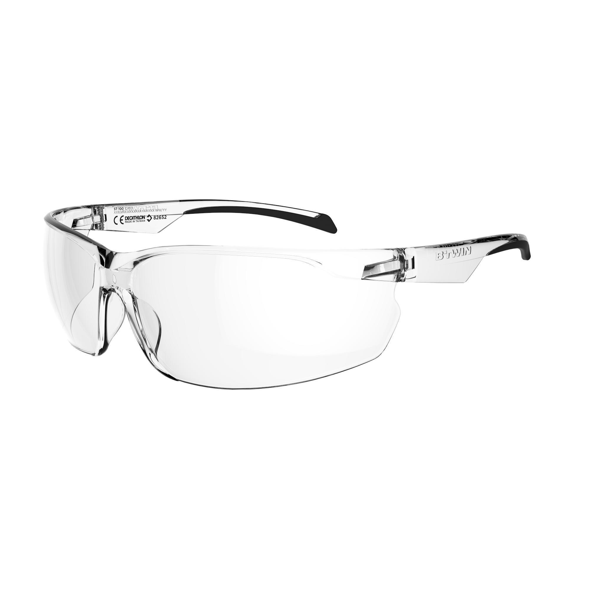 Rockrider Fietsbril voor volwassenen ST 100 transparant categorie 0