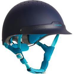 Paardrijcap C120 marineblauw/turquoise