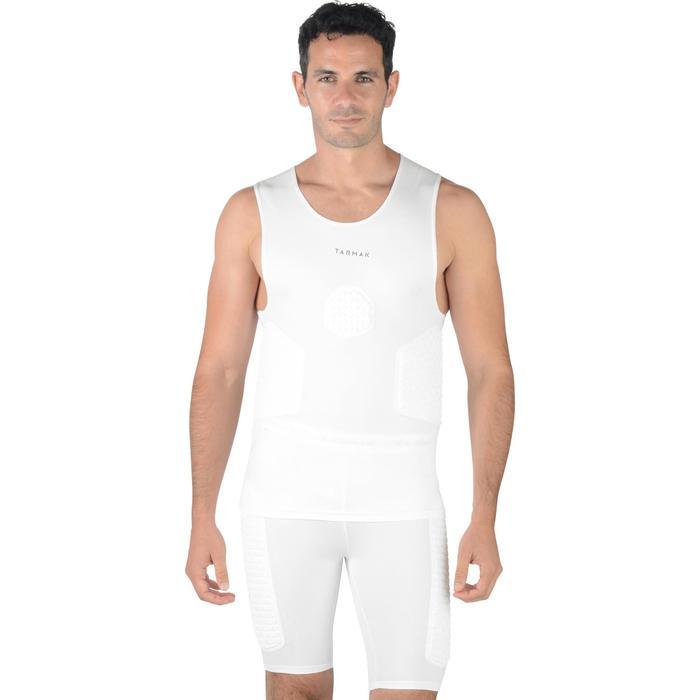 Camiseta Protección Baloncesto Tarmak UTP500 Sin Mangas Blanco