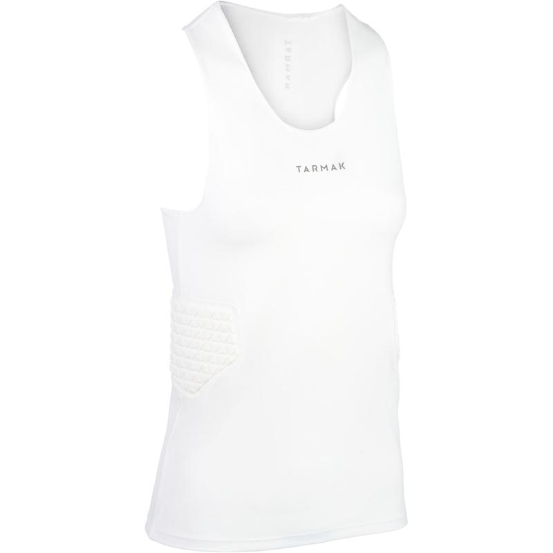 Women's Basketball Protective Base Layer Top For Intermediate Players - White