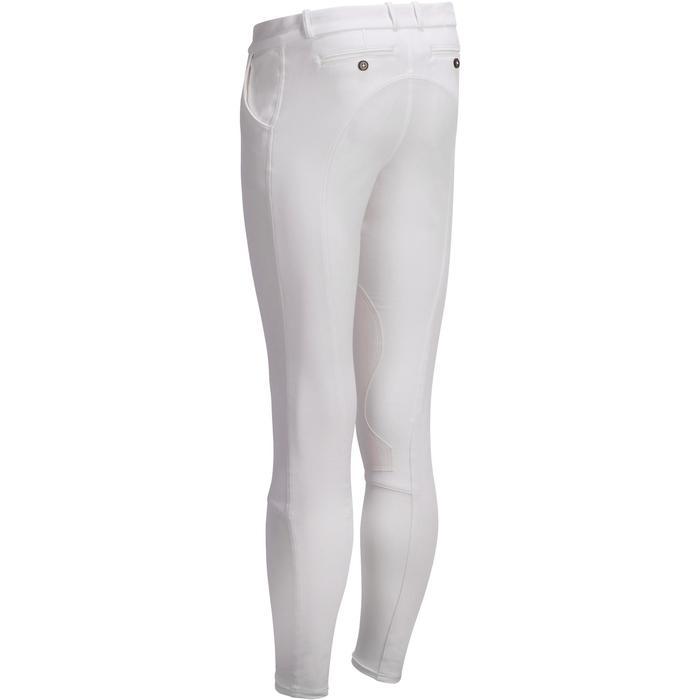 Pantalon Concours équitation homme BR140 basanes agrippantes blanc - 1251763