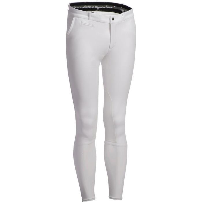 Pantalon Concours équitation homme BR140 basanes agrippantes blanc - 1251764