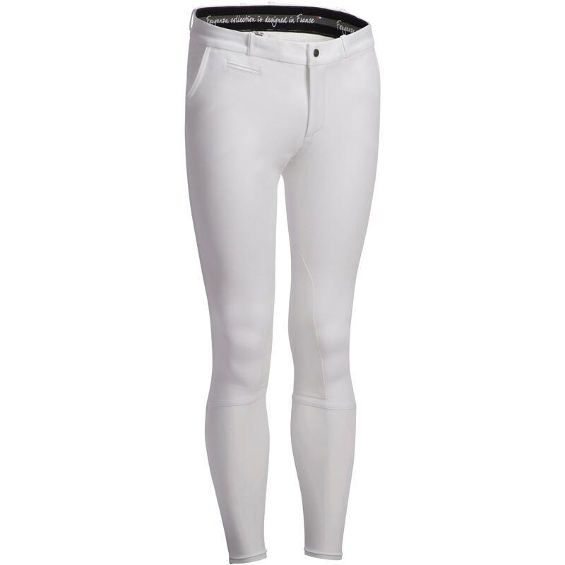 Pantaloni concorso equitazione 140 uomo bianchi