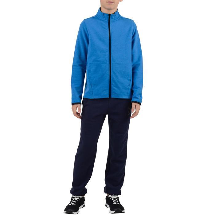 Veste 100 Gym garçon poches gris foncé - 1251766