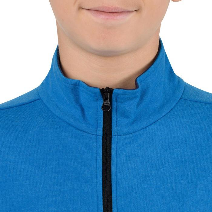 Veste 100 Gym garçon poches gris foncé - 1251767