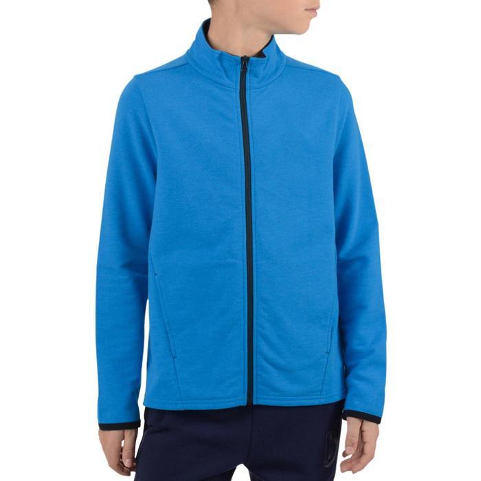 Veste 100 Gym garçon poches bleu