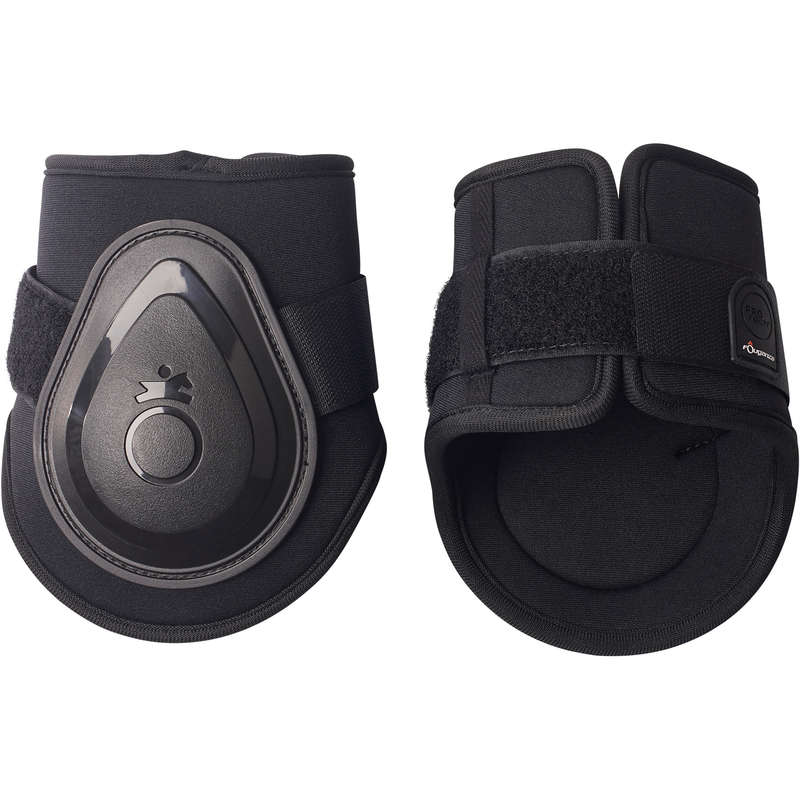 HORSE LEGS/ FOOT PROTECTION Horse Riding - FT BTS Soft Fetlock Boots x 2 FOUGANZA - Saddlery and Tack