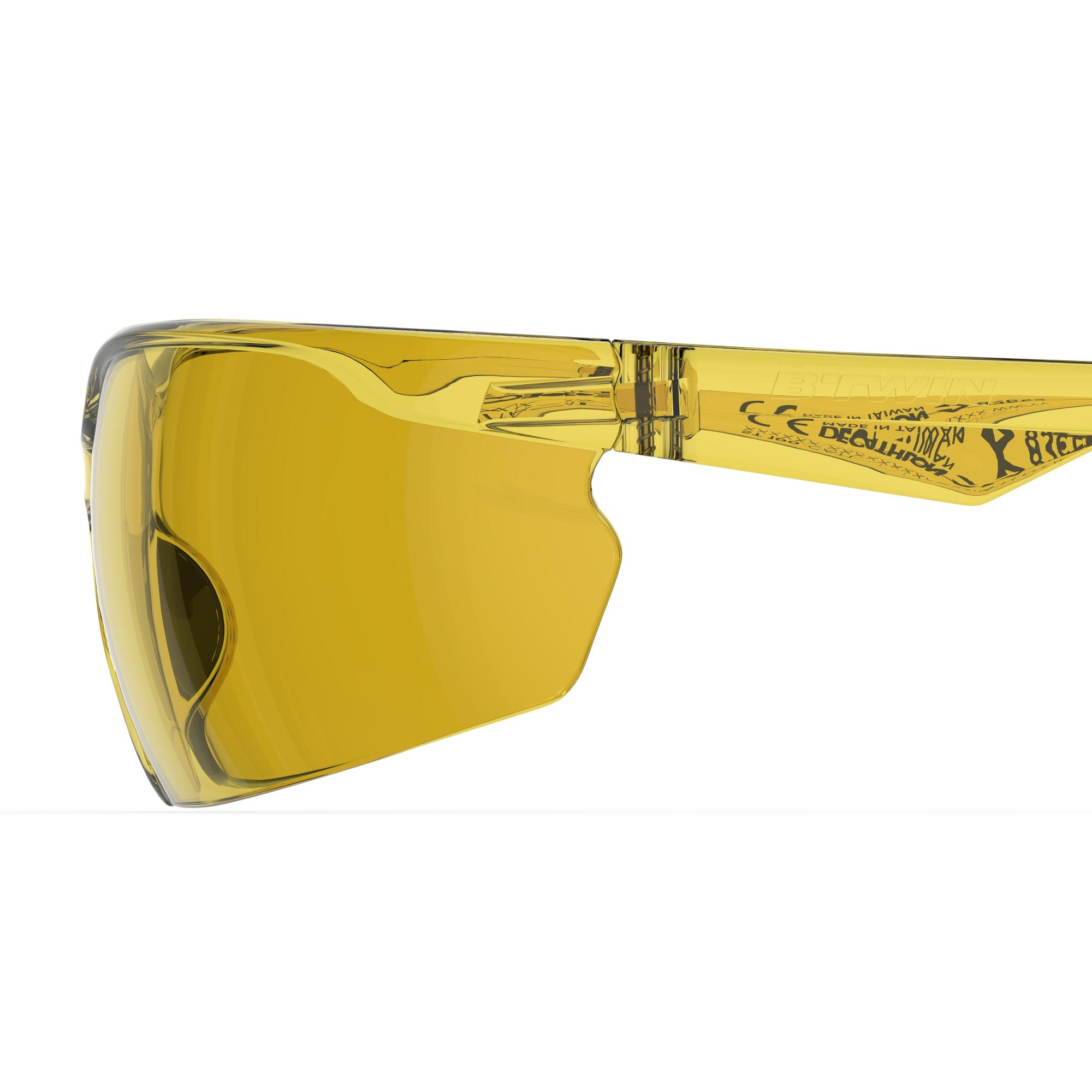 ST 100 Adult Mountain Bike Sunglasses Category 1 - Yellow