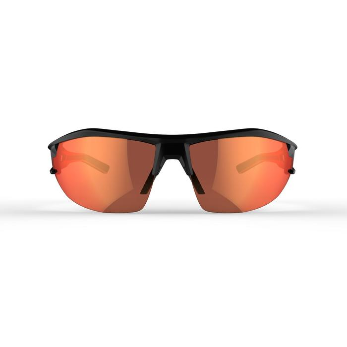 MTB-Sonnenbrille XC 100 4 austauschbare Gläser schwarz/rot
