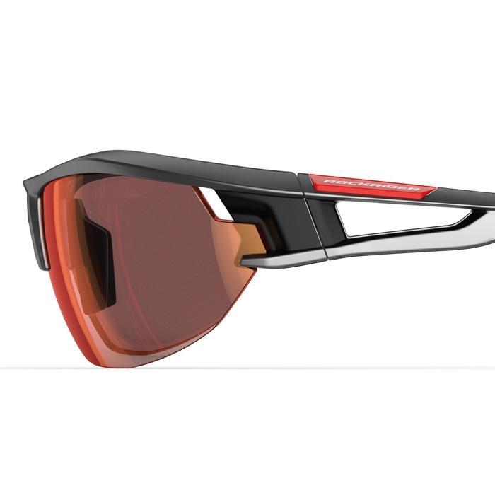 Fietsbril volwassenen XC 120 fotochromisch grijs en rood categorie 1 tot 3 - 1251830