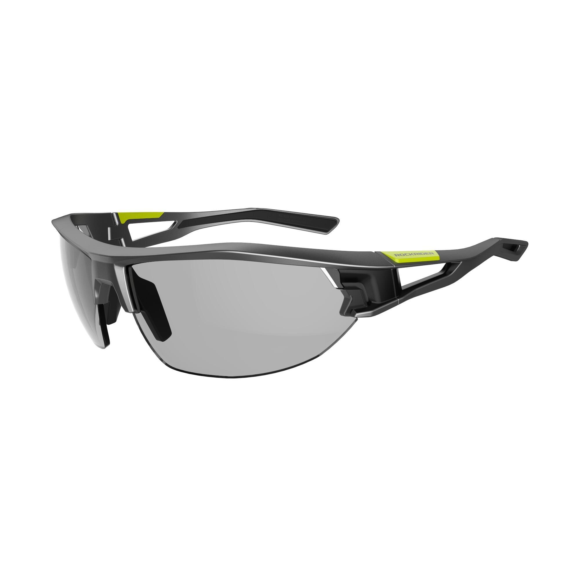 7d1f8ef57 Gafas de Sol Ciclismo MTB XC 120 Fotocromáticas gris negro categoría 1 a 3  Rockrider | Decathlon