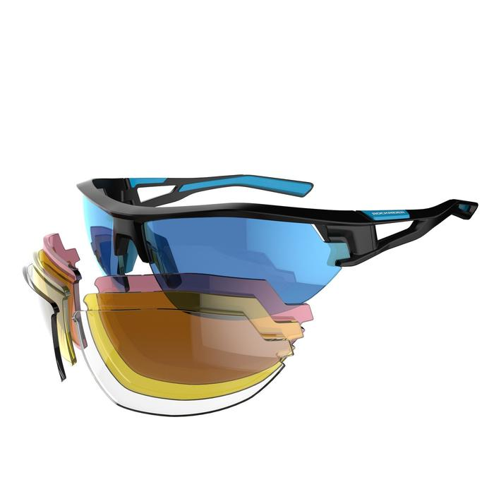 XC 100 Blue Pack Adult Cycling Sunglasses - 4 Interchangeable Lenses - Blue - 1251835