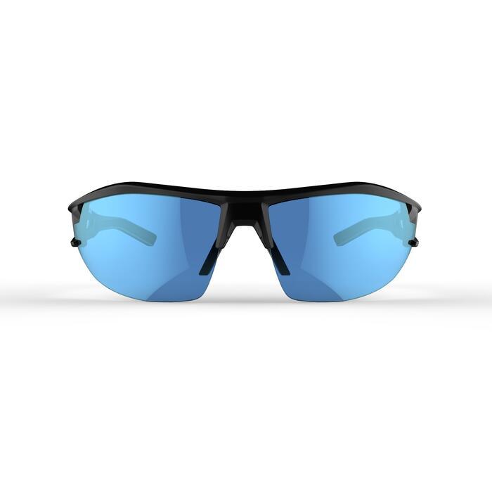 Fietsbril voor volwassenen XC 100 grijs en blauw met 4 verwisselbare glazen