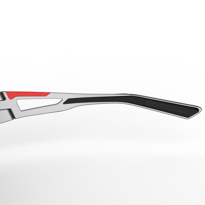 Fietsbril volwassenen XC 120 fotochromisch grijs en rood categorie 1 tot 3 - 1251846