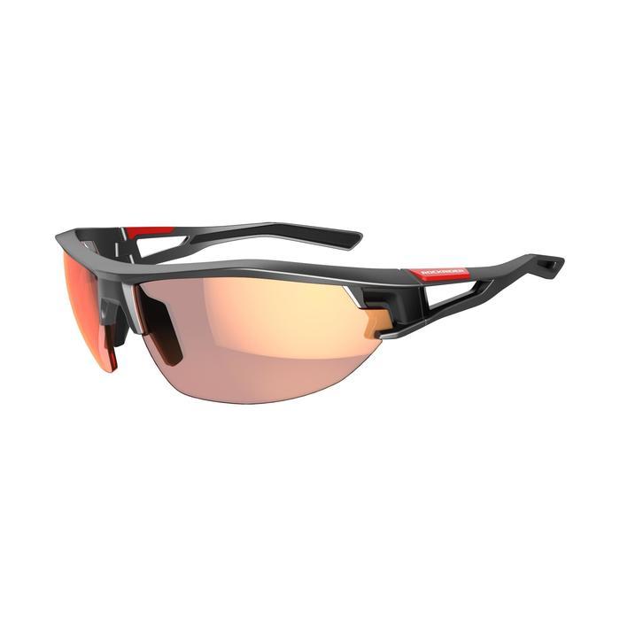Fietsbril volwassenen XC 120 fotochromisch grijs en rood categorie 1 tot 3 - 1251848