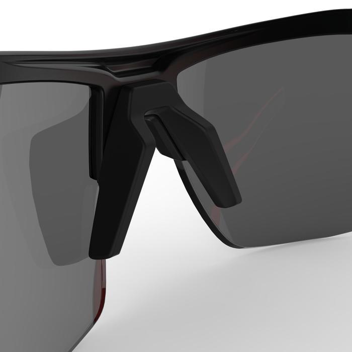 Fietsbril voor volwassenen XC 100 zwart en rood pack 4 verwisselbare glazen - 1251849