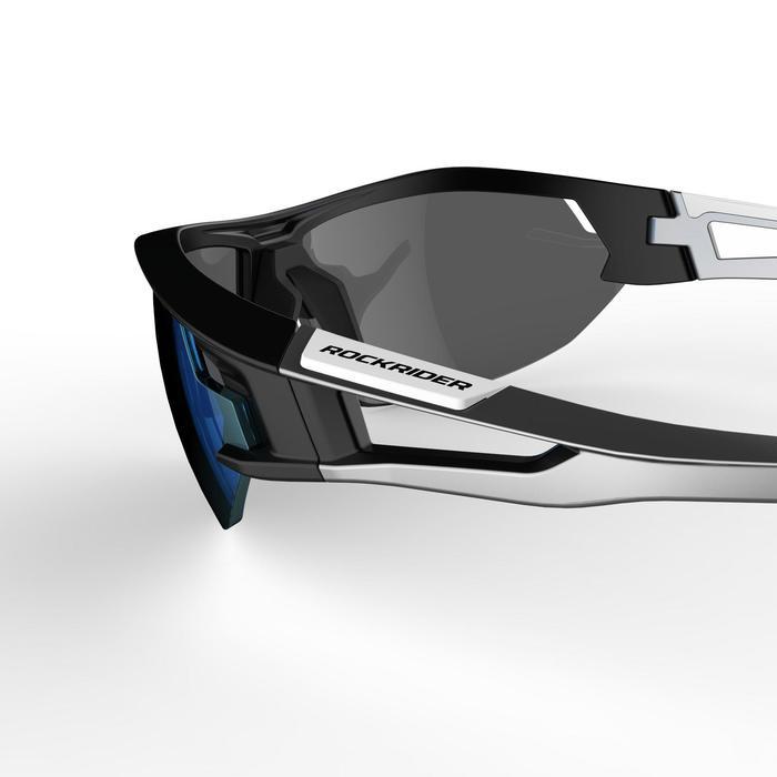 MTB-Sonnenbrille XC 100 4 austauschbare Gläser grau/blau