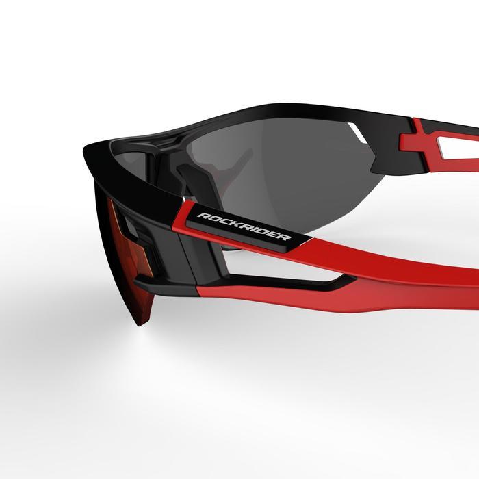 Lunettes de VTT adulte XC 100 noires et rouges pack de 4 verres interchangeables