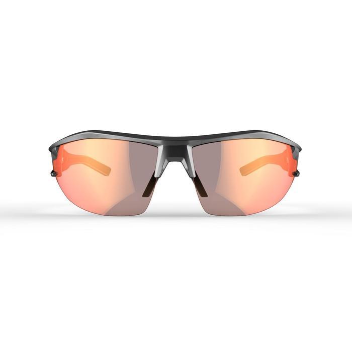 Fietsbril volwassenen XC 120 fotochromisch grijs en rood categorie 1 tot 3
