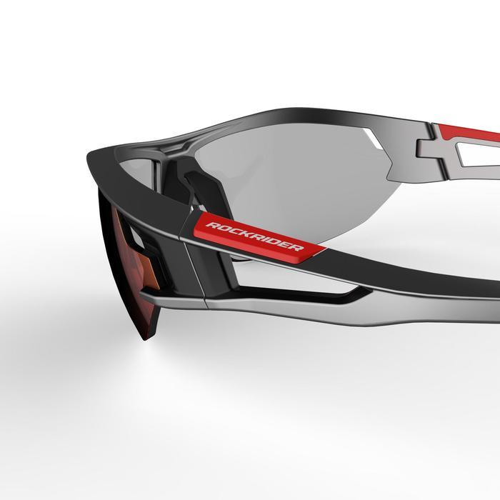 Sportbrille Cycling XC120 Photo Erwachsene Kat. 1 bis 3 grau/rot
