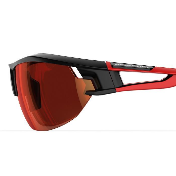 Fietsbril voor volwassenen XC 100 zwart en rood pack met 4 verwisselbare glazen