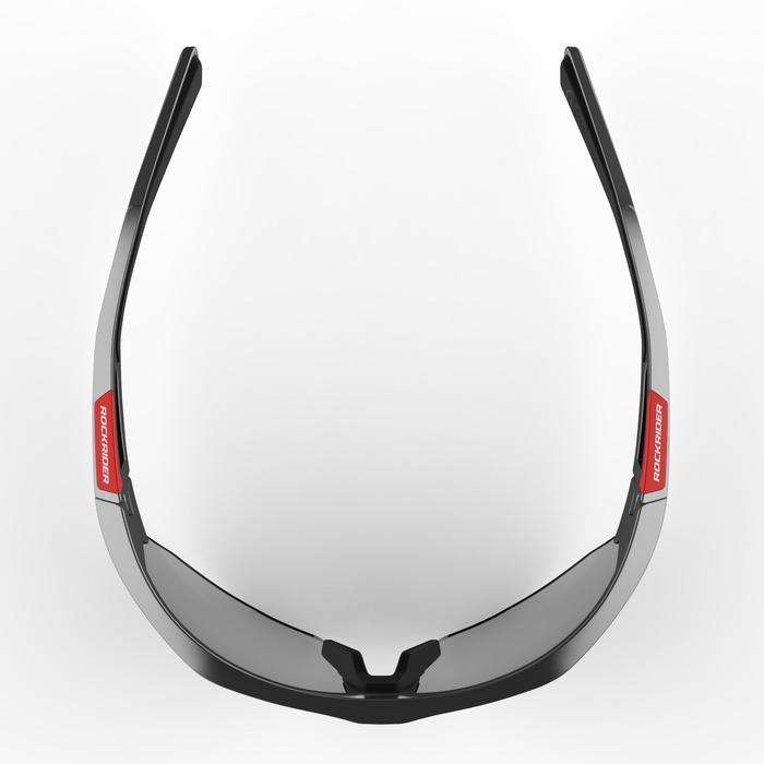 Fietsbril volwassenen XC 120 fotochromisch grijs en rood categorie 1 tot 3 - 1251866