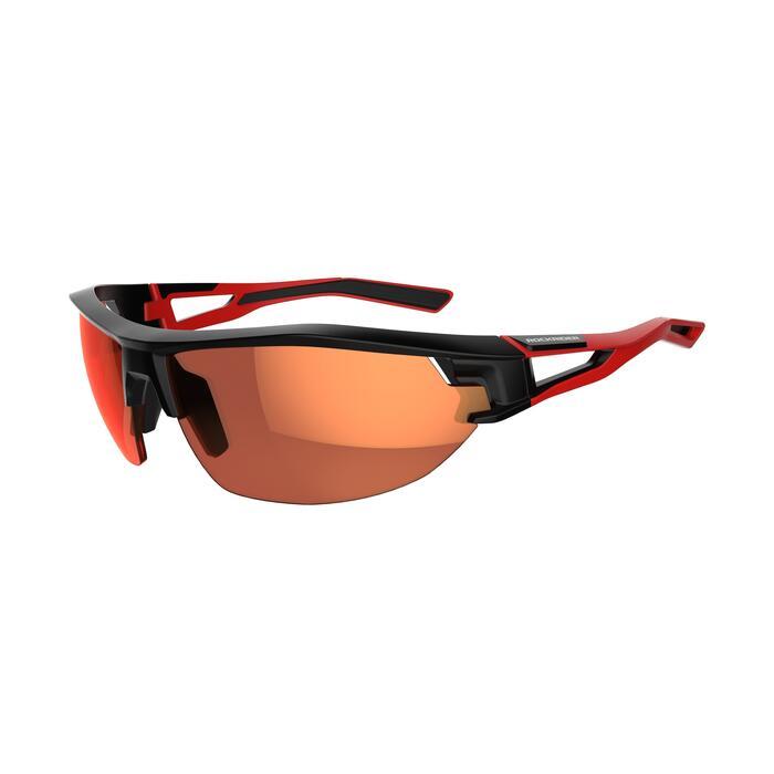 Fietsbril voor volwassenen XC 100 zwart en rood pack 4 verwisselbare glazen - 1251874