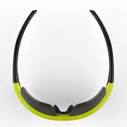 Fietsbril volwassenen Roadr 500 categorie 3 geel/groen fluo
